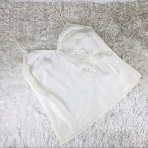 Olga Cream Silky Camisole Slip Top Sz 34 Vtg
